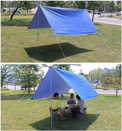 MiNiMoGu Carpa Playa Camping Carpa Canopy Pérgola Exterior Grande Plegable Impermeable Balcón 3 * 3m Viaje Pérgola Toldo Paño, Azul, 3 * 3M: Amazon.es: Deportes y aire libre