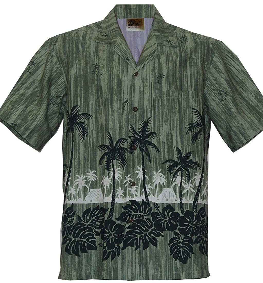 WinnieFashion Hawaiian (100% Cotton) Sleek Straight Coconut Aloha Shirts (USA) 818-aloha