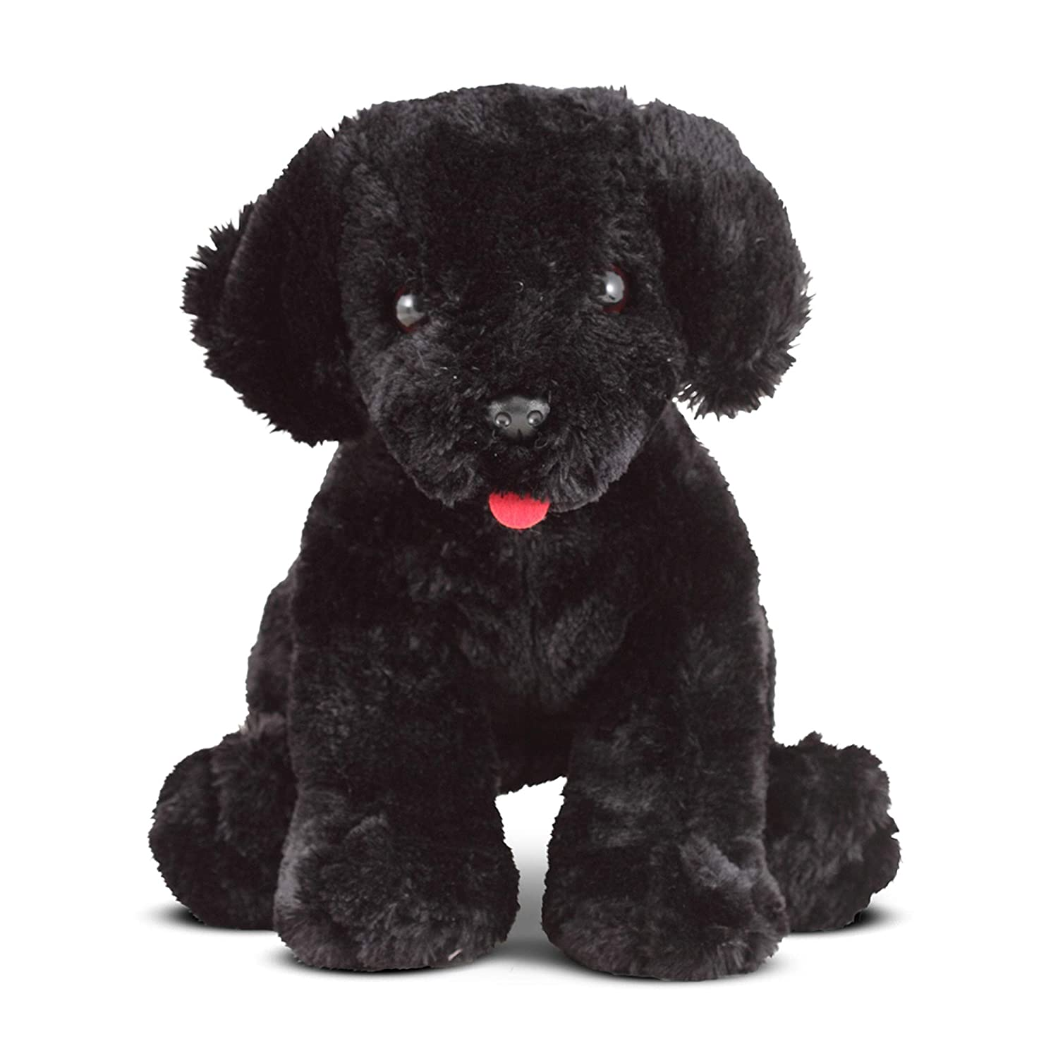 Amazon Com Melissa Doug Benson Black Lab Stuffed Animal Puppy