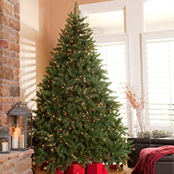 Amazon.com: Classic Pine Full Pre-lit Christmas Tree: Home & Kitchen