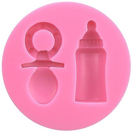 tema del bebé molde de silicona Forma Biberón y chupete para ...