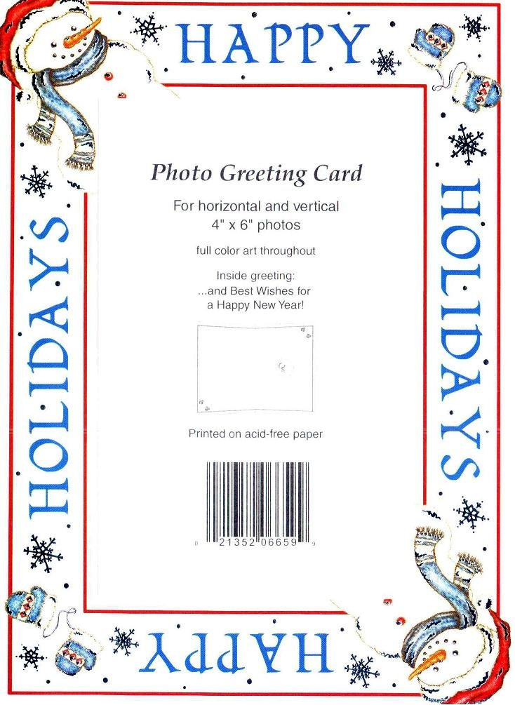 amazoncom 10 pack collectors gallery 4x6 happy holidays imprinted foil christmas photo insert greeting cards w envelopes christmas cards with photo - 4x6 Photo Insert Christmas Cards