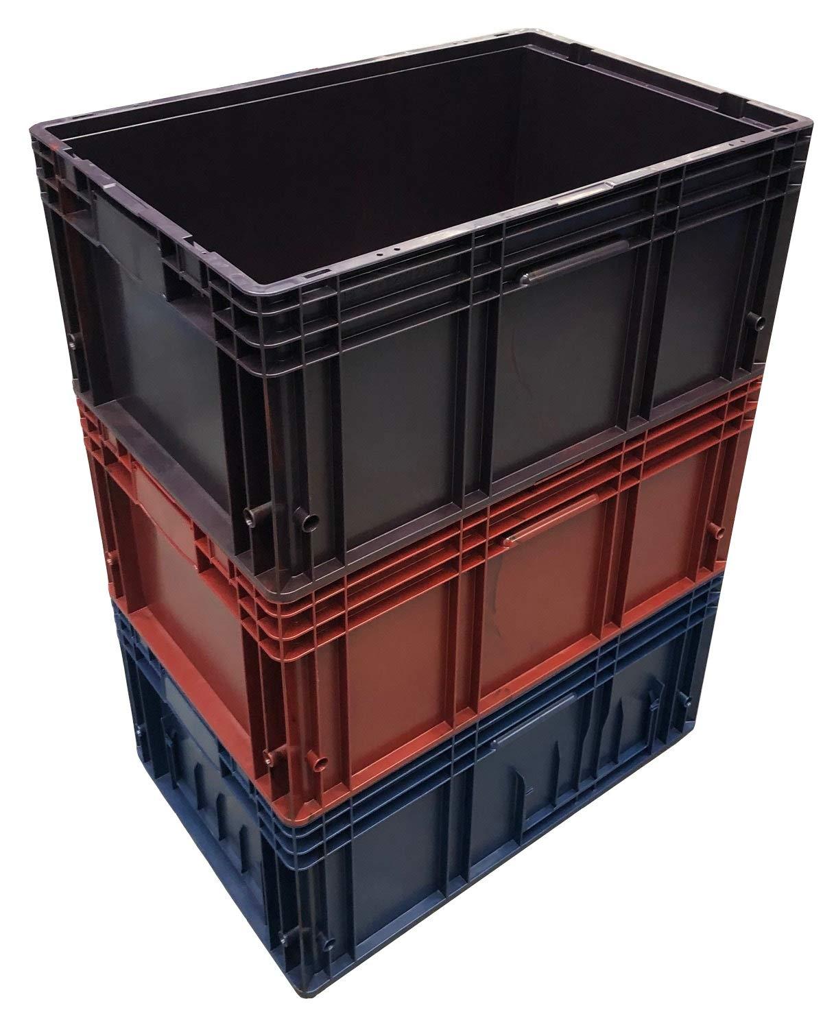 3 cajas de almacenamiento KLT de plástico industrial apilables de ...