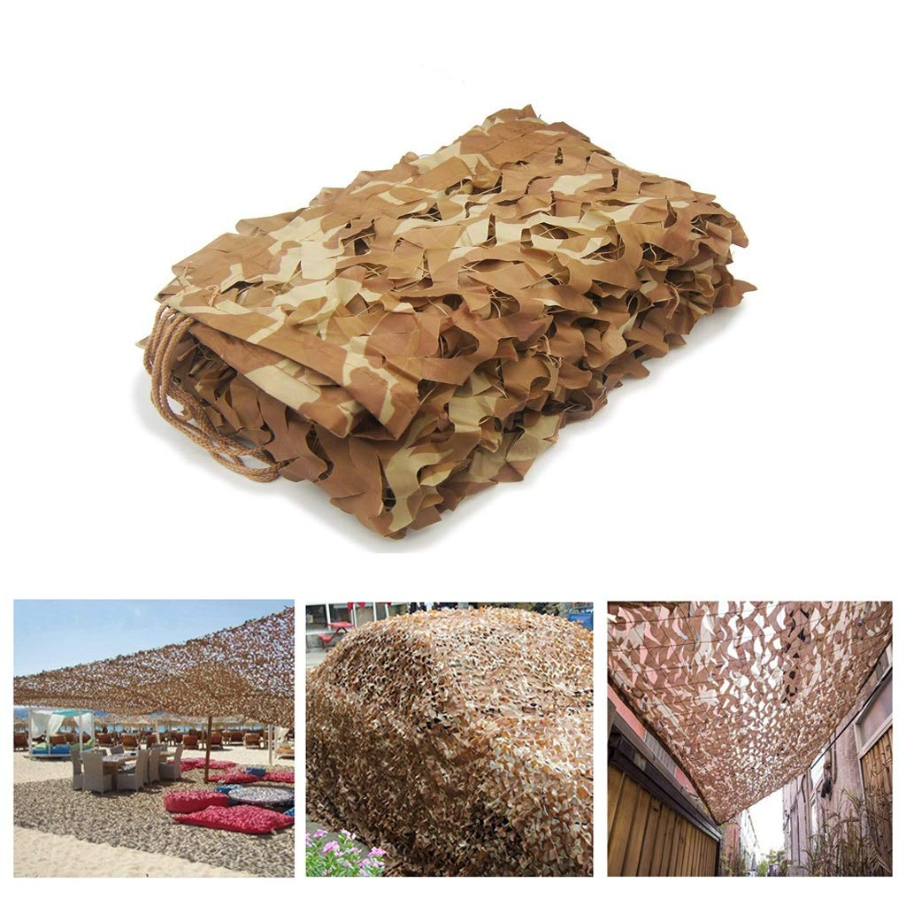 mejor calidad mejor precio 48M(13.126.2ft) ZHhome Desert Camo Net 10ft X X X 16.4ft Woodland Camouflage Net Military Netting Camping Hunting Shooting Blind Sunscreen Netting Camouflage Party Decoration, 10x10m (Talla   4  8M(13.1  26.2ft))  ventas en linea