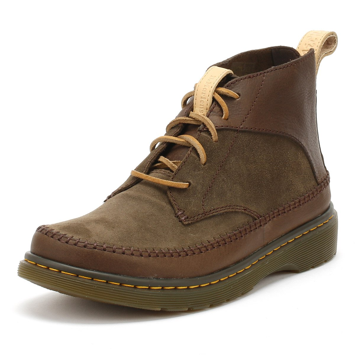 Dark Brown Mesa Dark Brown Waxy Suede Waterproof Dr. Martens Mens Flloyd Revive