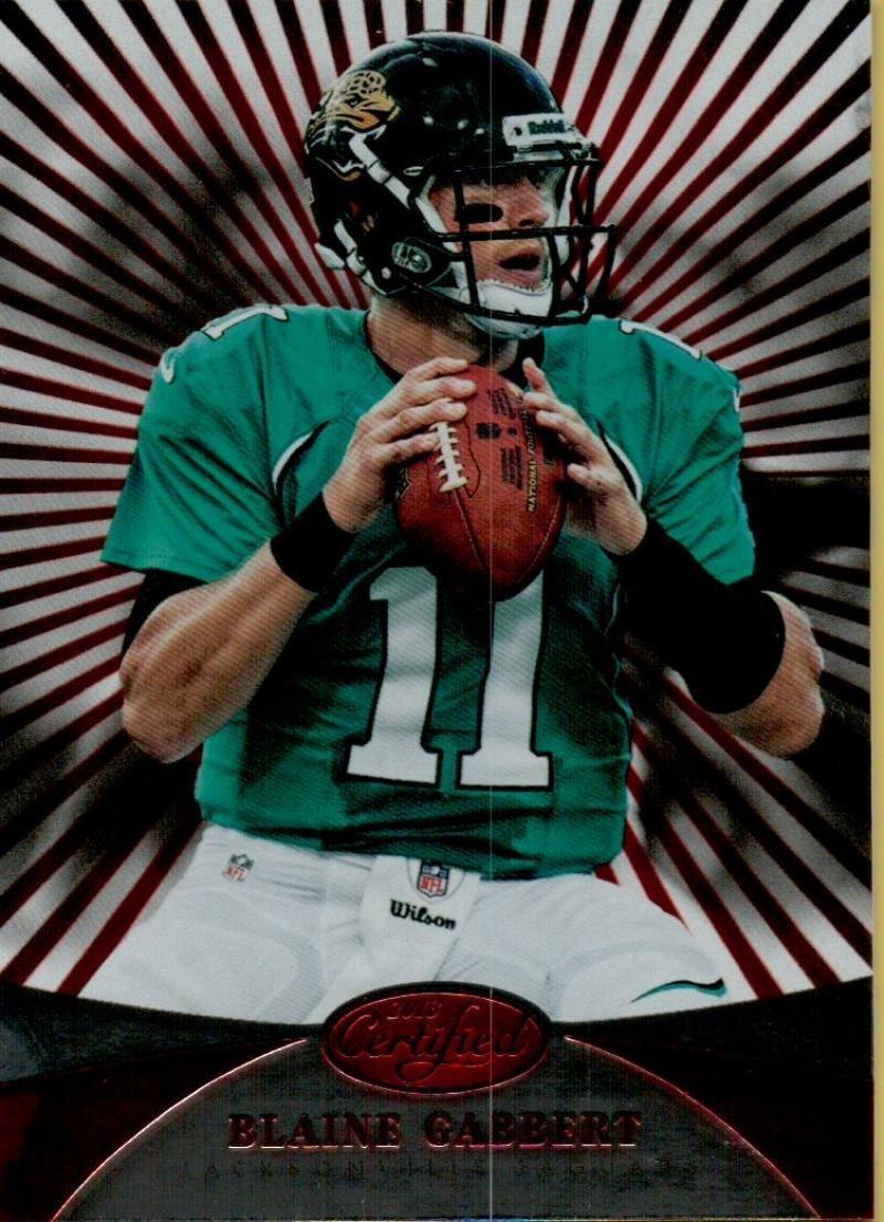 フットボールNFL 2013認定プラチナレッド# 29 Blaine Gabbert Jaguars