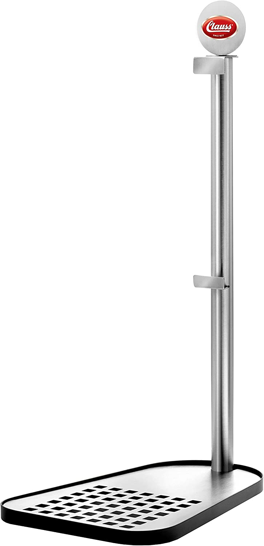 Clauss CL-60000 00 - Soporte de barril de cerveza para barriles estándar de 5 L, acero inoxidable