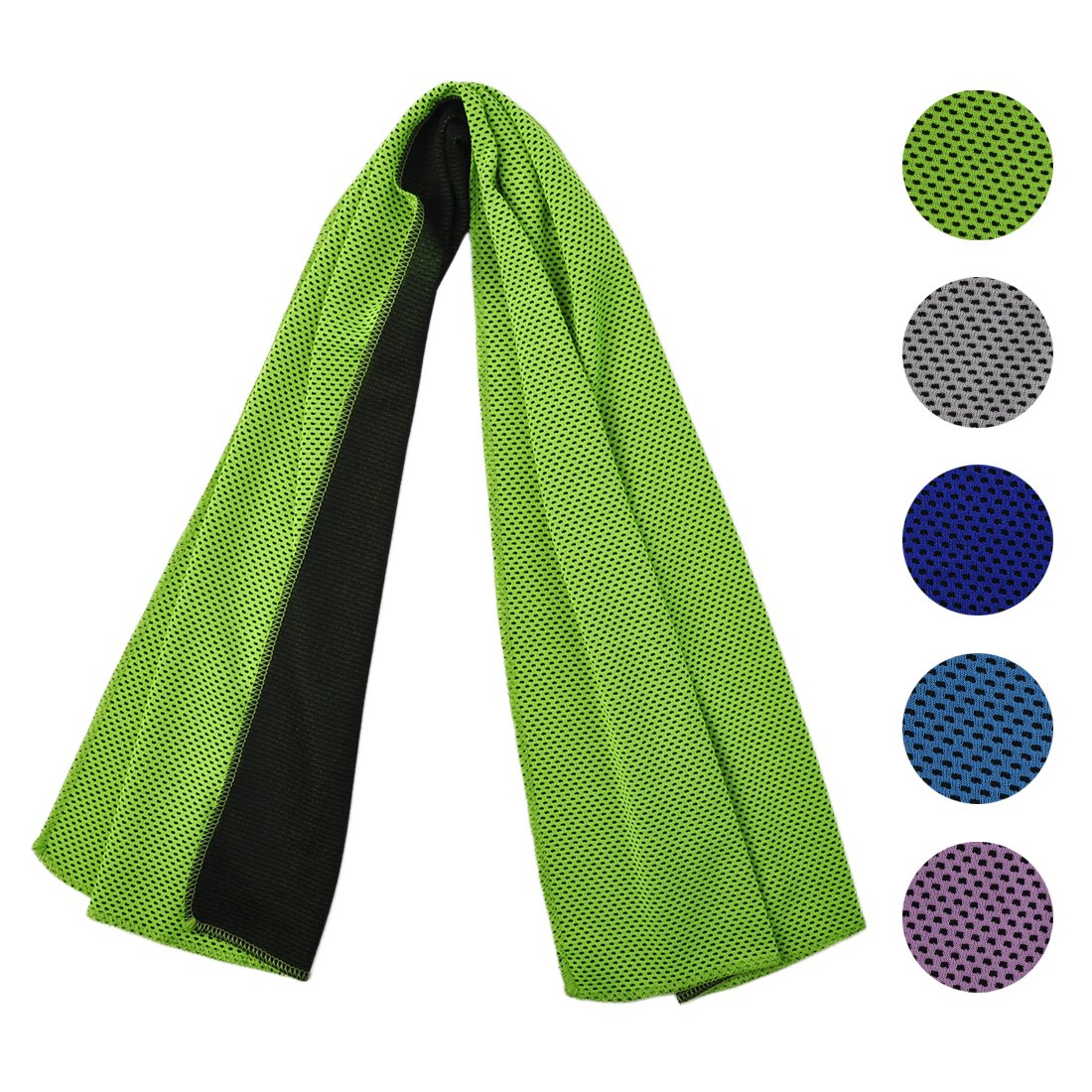 Cooling Towel for Sports, Workout, Fitness, Gym, Yoga, Pilates, Travel, Camping & More, Ice Cold, Camouflage, Multi Colors (BP-Green)