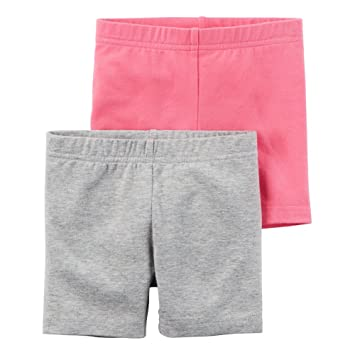 178d1fabe Amazon.com  Carters Little Girls 2-Pack Playground Shorts Heather ...