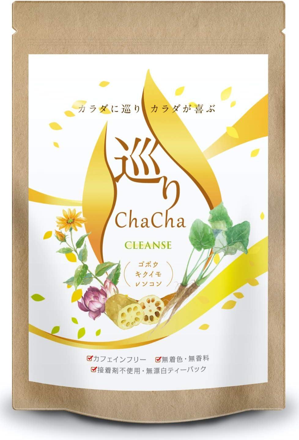 ごぼう茶 国産 巡りChaCha ノンカフェイン ブレンドティー 40包