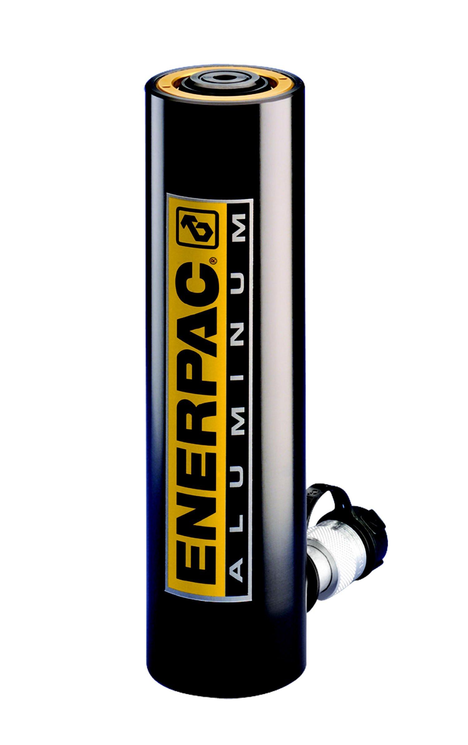 Enerpac RAC-306 Single-Acting Aluminum Hydraulic Cylinder with 30 Ton Capacity, Single Port, 5.91'' Stroke