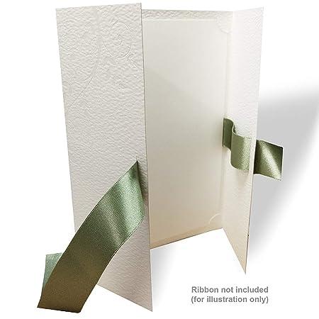 gatefold wedding invitation blanks premium 300gsm diy invites with