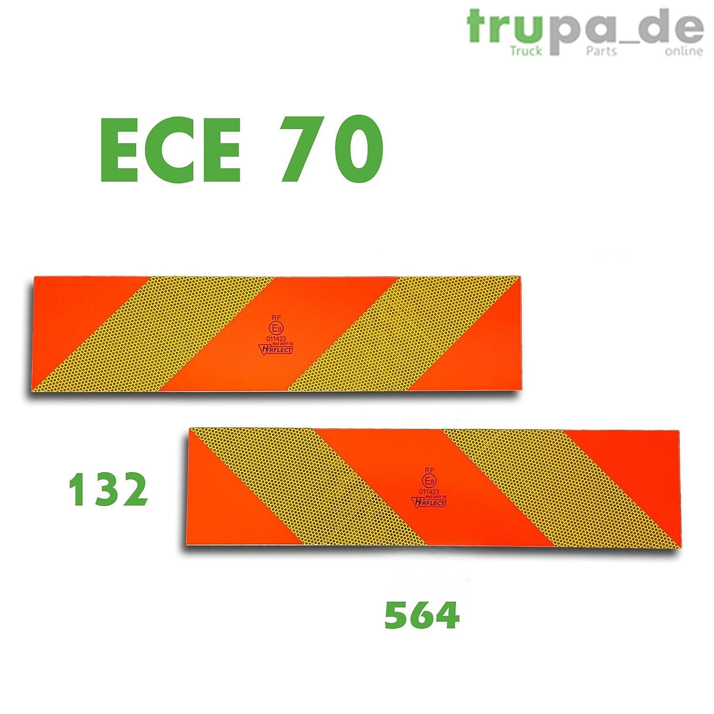 2 x Rear Markings 565 x 132 ECE 70.01 Warning Sign Aluminium Reflector LKW SZM Trupa