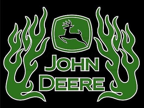 60cm!Auto-AUFKLEBER-UV/&Waschanlagenfest John Deere Logo Gelb+Schrift-Trecker B23
