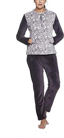 Pijama Mujer Invierno coralina: Amazon.es: Ropa