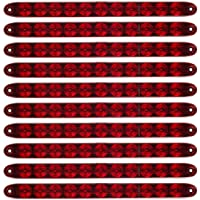 "Partsam Red 15"" 11 LED Trailer Light Bar Sealed Stop Turn Tail Park Third 3rd Brake Light Marker ID Bar for 80"" or Wider…"