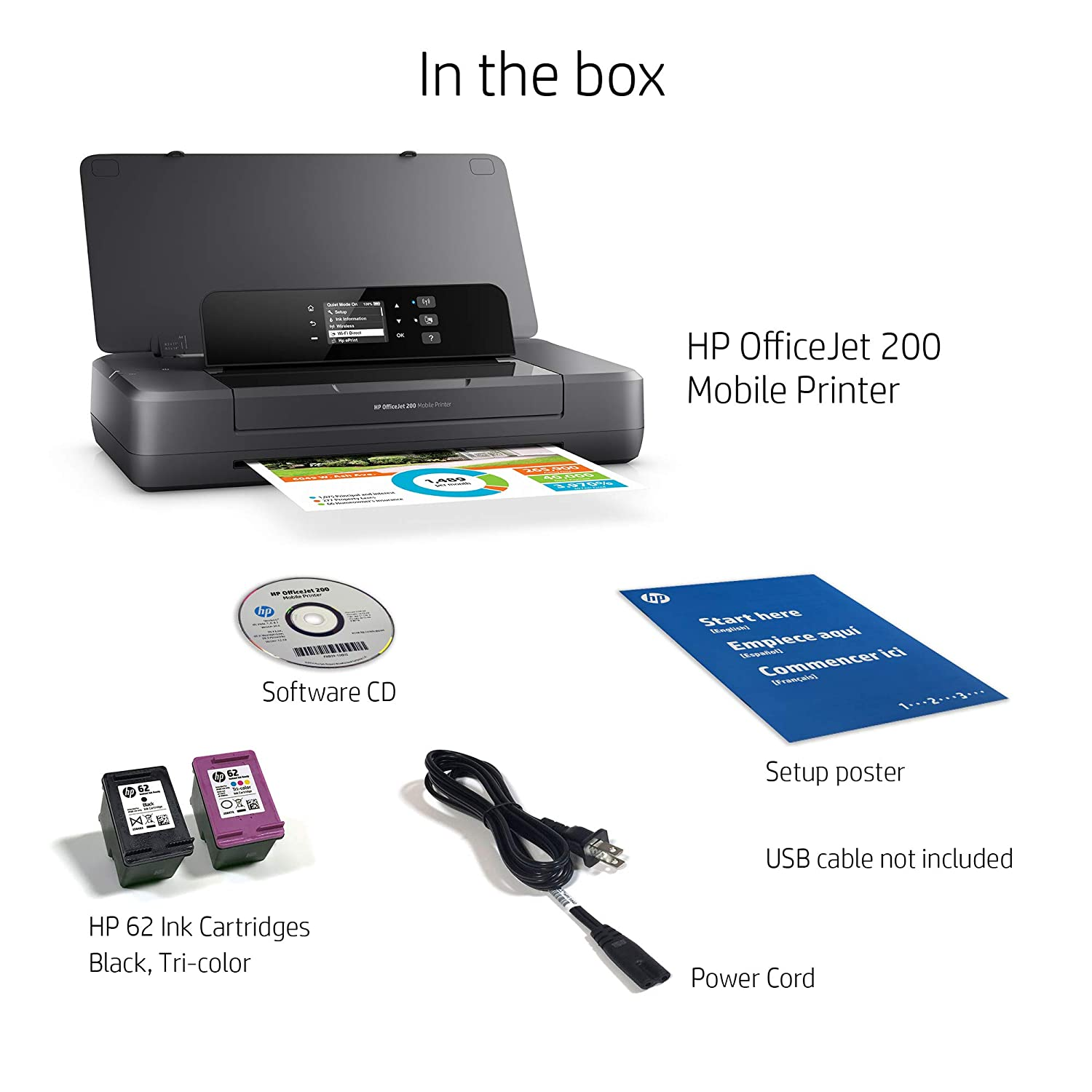 HP Officejet 200 Mobile Color 4800 x 1200dpi A4 WiFi Negro ...