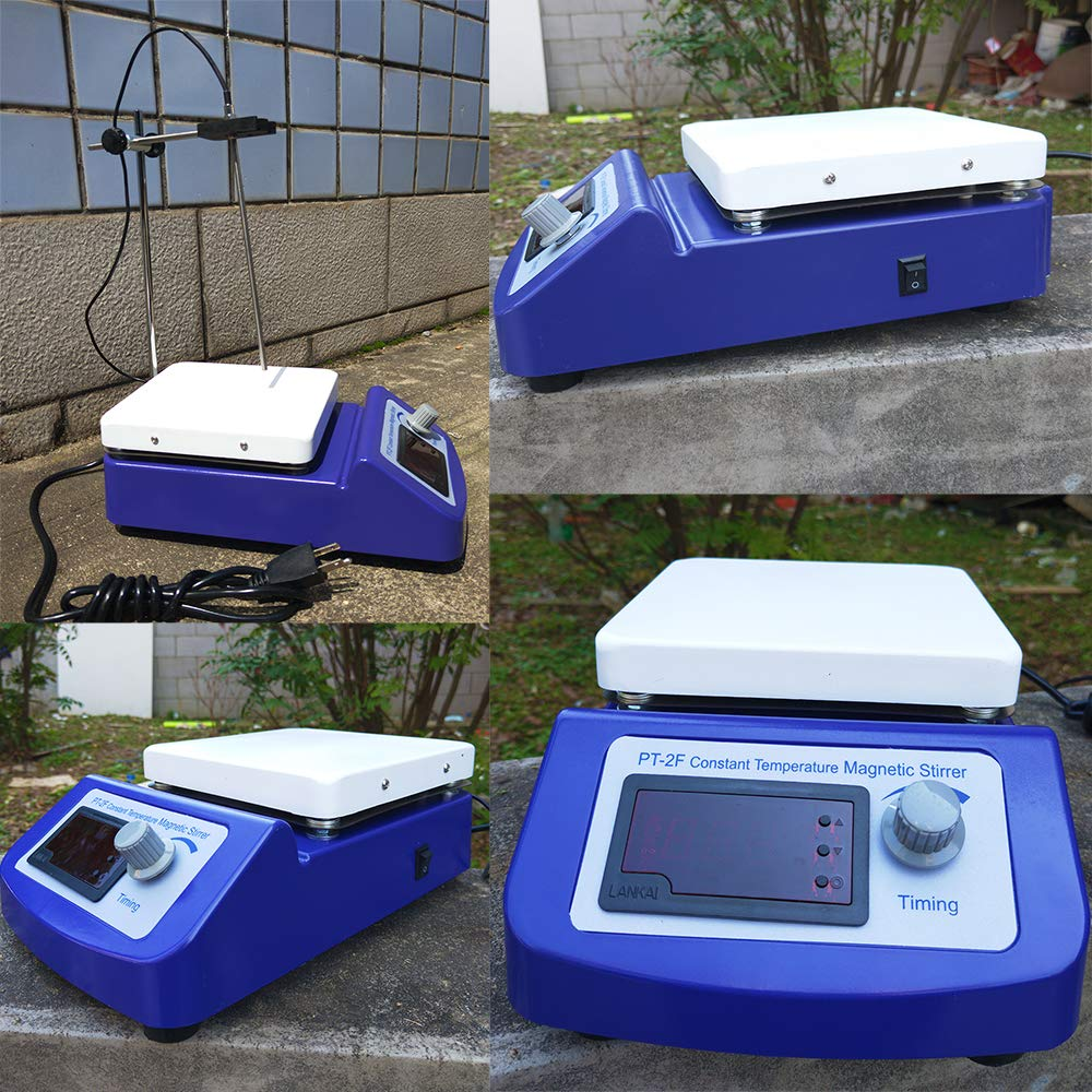 Digital Magnetic Stirrer Hot Plate Constant Temperature Control with Temperature Sensor and Stir Bars by LLLAB (Image #2)