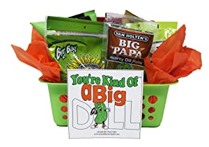 Dill Pickle Basket   Funny Gift   Baseball, Softball, Football Gift Basket   Teacher Appreciation  