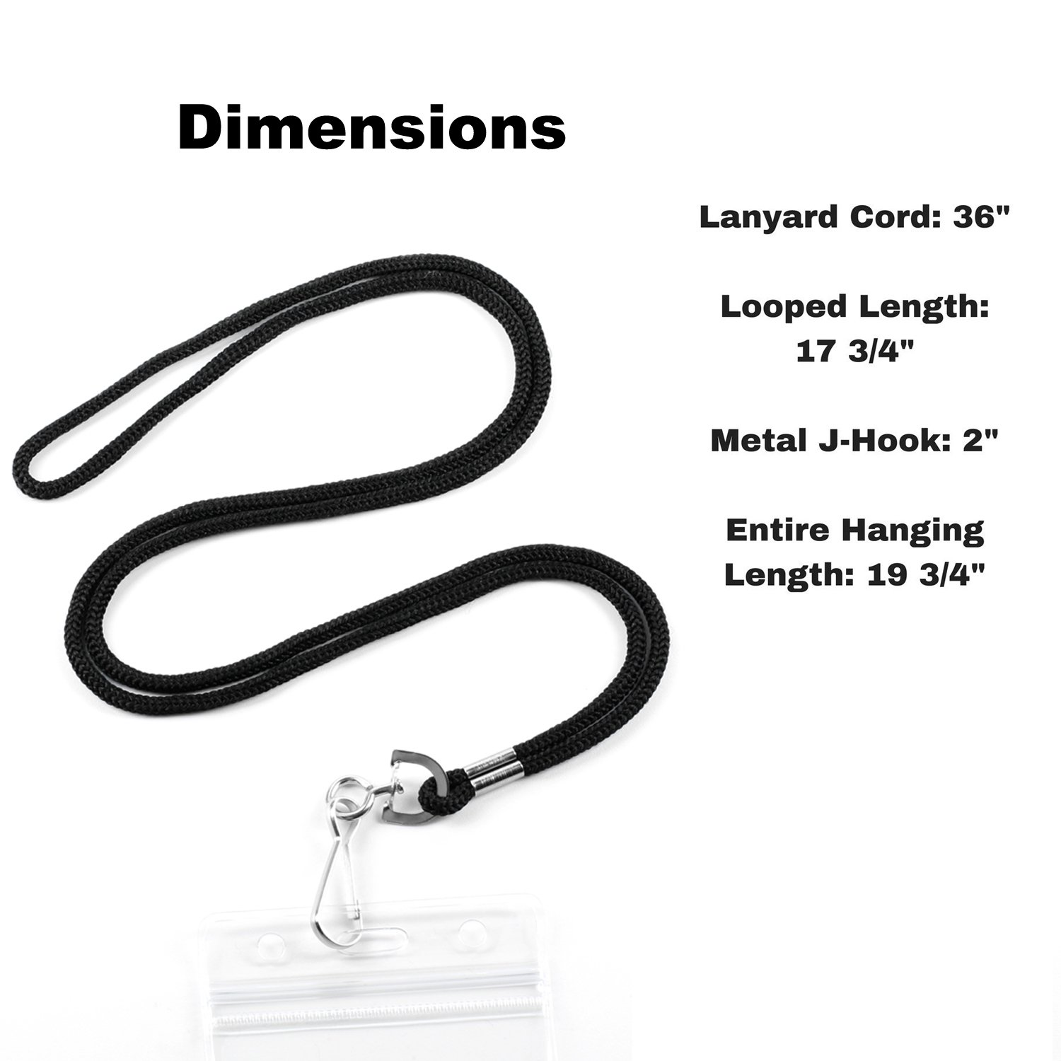 Premium Bulk Lanyard for ID Nametag Badge Holder (Satin Black, 100 Pack) – Nylon Woven Round lanyards 36-inch Braided Cord, Metal Swivel J-Hook - Business, School, Events Favors – by IRISING by LION KNIGHT (Image #3)