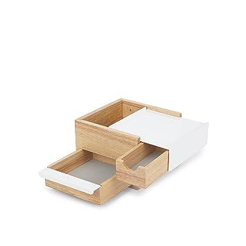 umbra アクセサリー収納 MINI STOWIT JEWELRY BOX (ミニ ストーイット ジュエリーボックス) ブラック/ウォルナット  21005314048