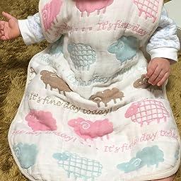 Amazon サンデシカ ふわふわ6重ガーゼ スリーパー Mサイズ 新生児 3歳頃 ひつじ 3340 0012 15 赤ちゃん スリーパー ベビー マタニティ 通販