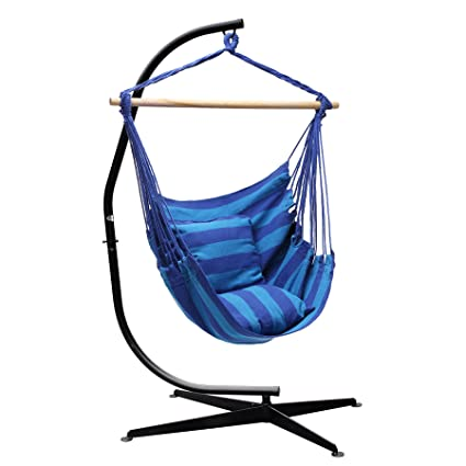 SUPER DEAL Hammock Hanging Chair Air Deluxe Sky Swing Hanging Rope Chair  Porch Swing Seat Patio