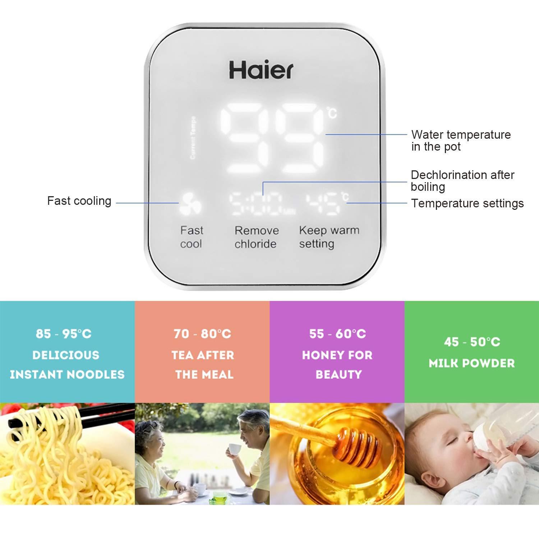 Fast Bottle Warmer Baby Food Steam Blender Joyhero Haier Smart Constant Temperature Milk Modulator for Infant Babies, Intelligent Temperature Control Technique.
