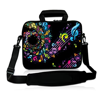 """Music Note 9.7"""" 10"""" 10.2"""" inch Laptop Netbook Tablet Shoulder Case Carrying Sleeve bag For Apple iPad/Asus EeePC/Acer Aspire one/Dell inspiron mini/Samsung N145/Lenovo S205 S10/HP Touchpad Mini 210"""