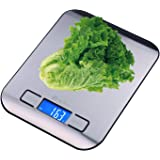 CICADA Digital Kitchen Scale Electronic Food Scale, 11lb/5kg,Upgraded Blue Backlit Display-Batteries Included
