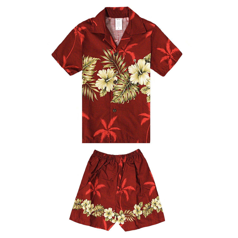 Hecho en Hawaii Padre e Hijo a Juego Camisa Cabana en Cruz Golden ...