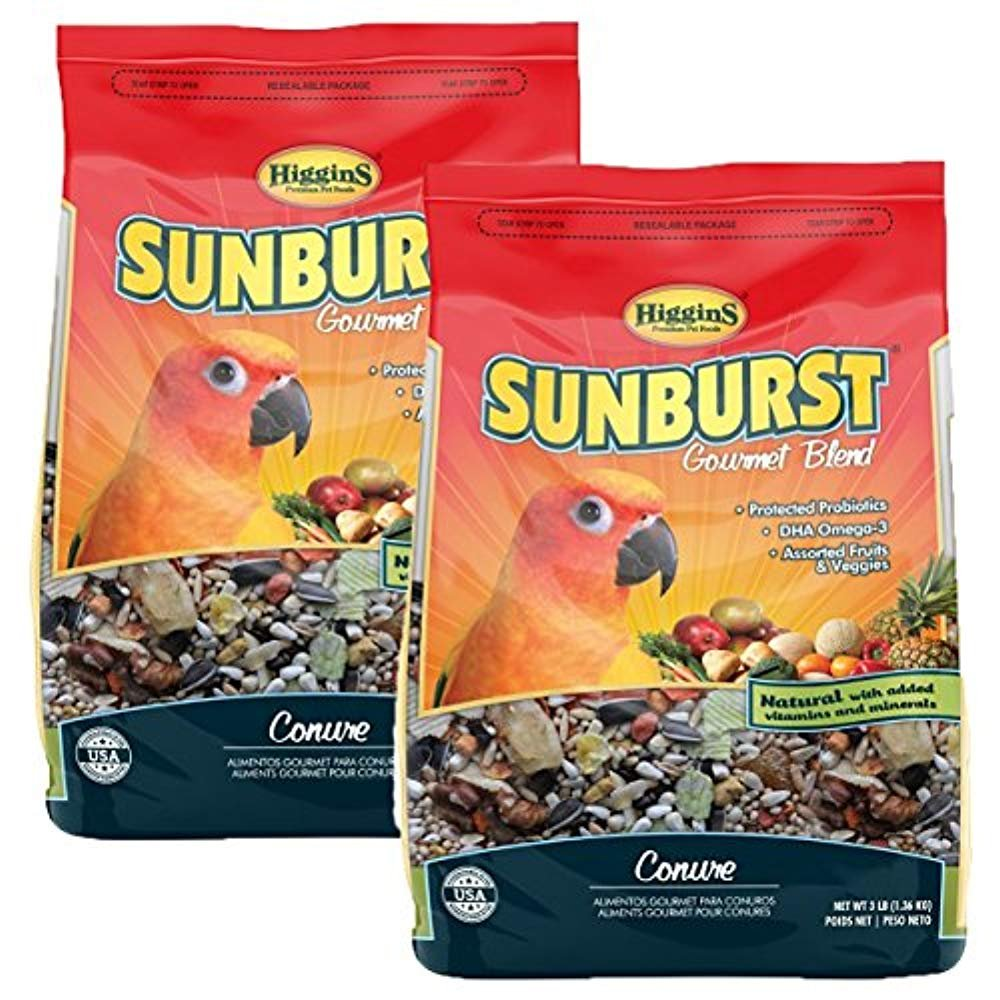 Higgins Sunburst Gourmet Food Mix for Conures by Higgins Premium Pet Foods