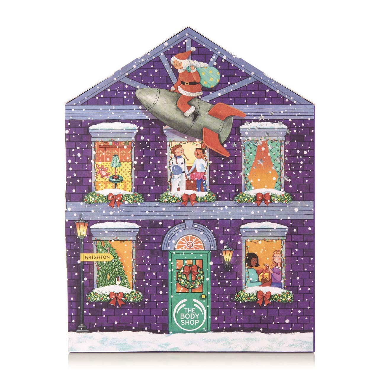 The Body Shop Entry Advent Calendar, 24Piece Gift Set Of 100% Vegetarian Skincare, Body Care, And Makeup Treats, 33.33 Fl. Oz. by The Body Shop