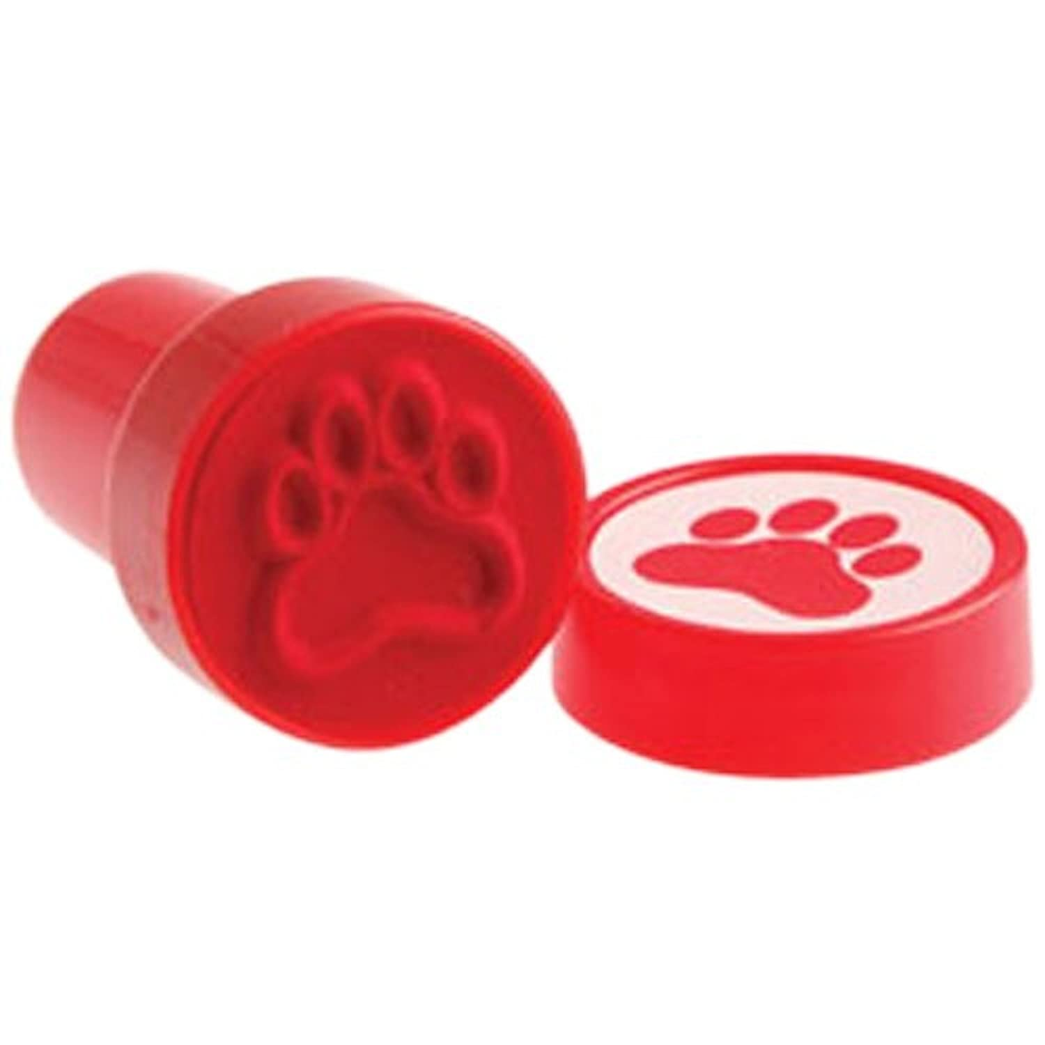 U.S. Toy Lot of 6 Red Dog Puppy Paw Print Mini Stampers