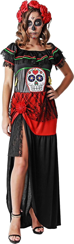 Gojoy shop- Disfraz de Calavera Mejicana del Día de los Muertos ...