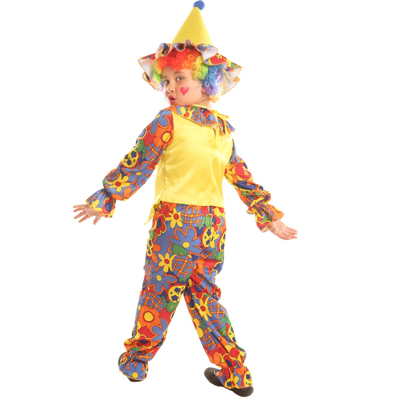 Disiao Kids Big Top Clown Costume for Little Boys Grils Fancy Ball Christmas Halloween Christmas Party Cospaly Suits