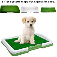 Nrpfell Small Plastic Pet Potty Bedpan with Wall Dog Indoor Pet Toilet Upright for Training Natural Ability Fence Potty Trainer Pink