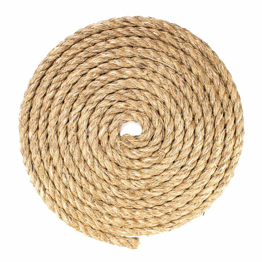 Twisted Manila Hemp Rope Strong and Versatile WEST COAST PARACORD 5//8 inch Diameter Environmentally Friendly Multiple Length Options