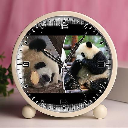 Reloj despertador, relojes retro portátil con luz personalizado diseños – lindo y divertido oso Panda