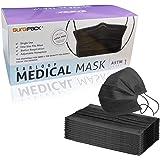 SURGIPACK Medical Supplies Black Disposable Medical Mask, Earloops & Adjustable Safety Masks, Non-woven Face Masks for Medica