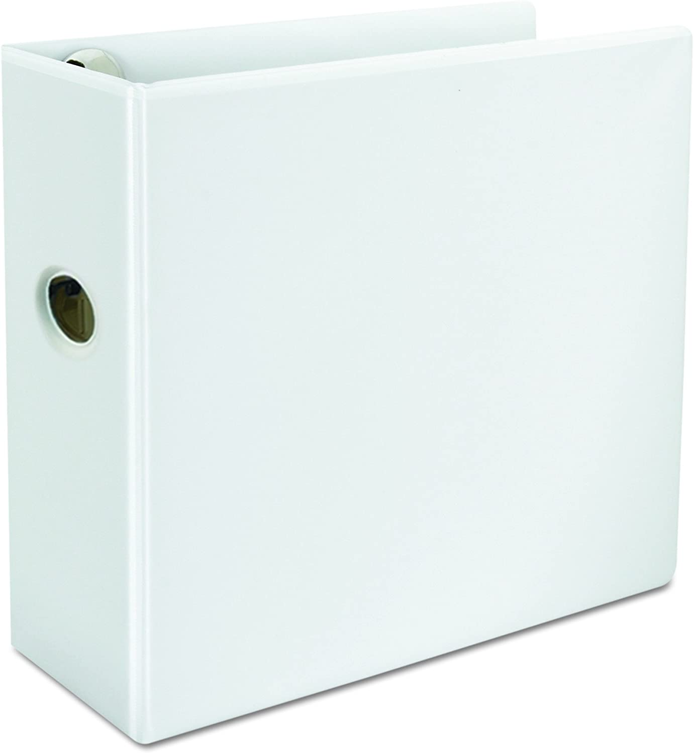 """11 x 8-1//2/"""" Carton of 2 White 5/"""" Capacity Business Source D-Ring View Binder"""