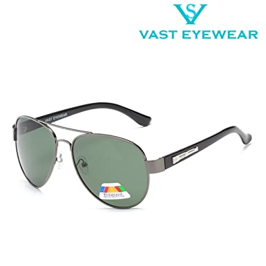 d57a98e63f Vast HD TAC Polarized Aviator Men Sunglasses (POLO FER GUN GREEN)   Amazon.in  Clothing   Accessories