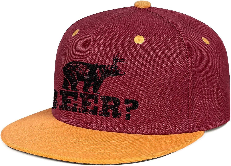 KYTKYTT Mens Women Mesh Trucker Cap Deer Beer Bear Snapback Brim Hats
