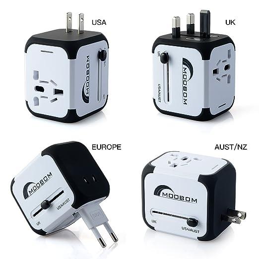 22 opinioni per Moobom Universale Portatile Power Connettore Adattatore da viaggio (US UK EU AU)