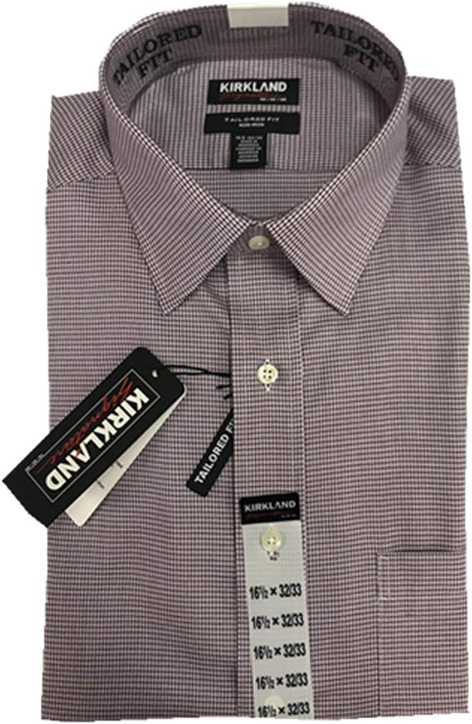Kirkland Signature - Camisa de Vestir para Hombre, 100% algodón, Cuello sin Plancha - - 42 ES/44 ES: Amazon.es: Ropa y accesorios