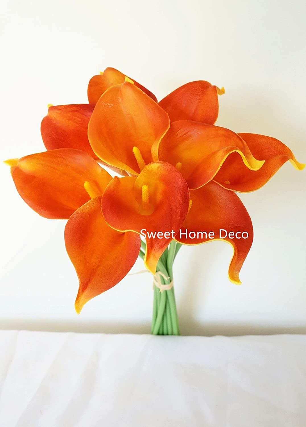 Amazon Sweet Home Deco Latex Real Touch 15 Artificial Calla