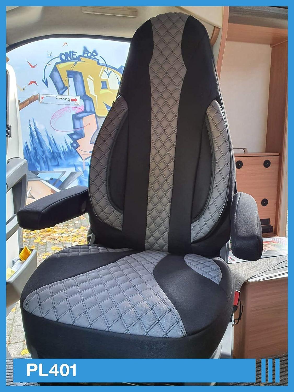 PL401 Ma/ß Sitzbez/üge kompatibel mit FIAT Ducato 250 Fahrer /& Beifahrer ab BJ 2006 Farbnummer