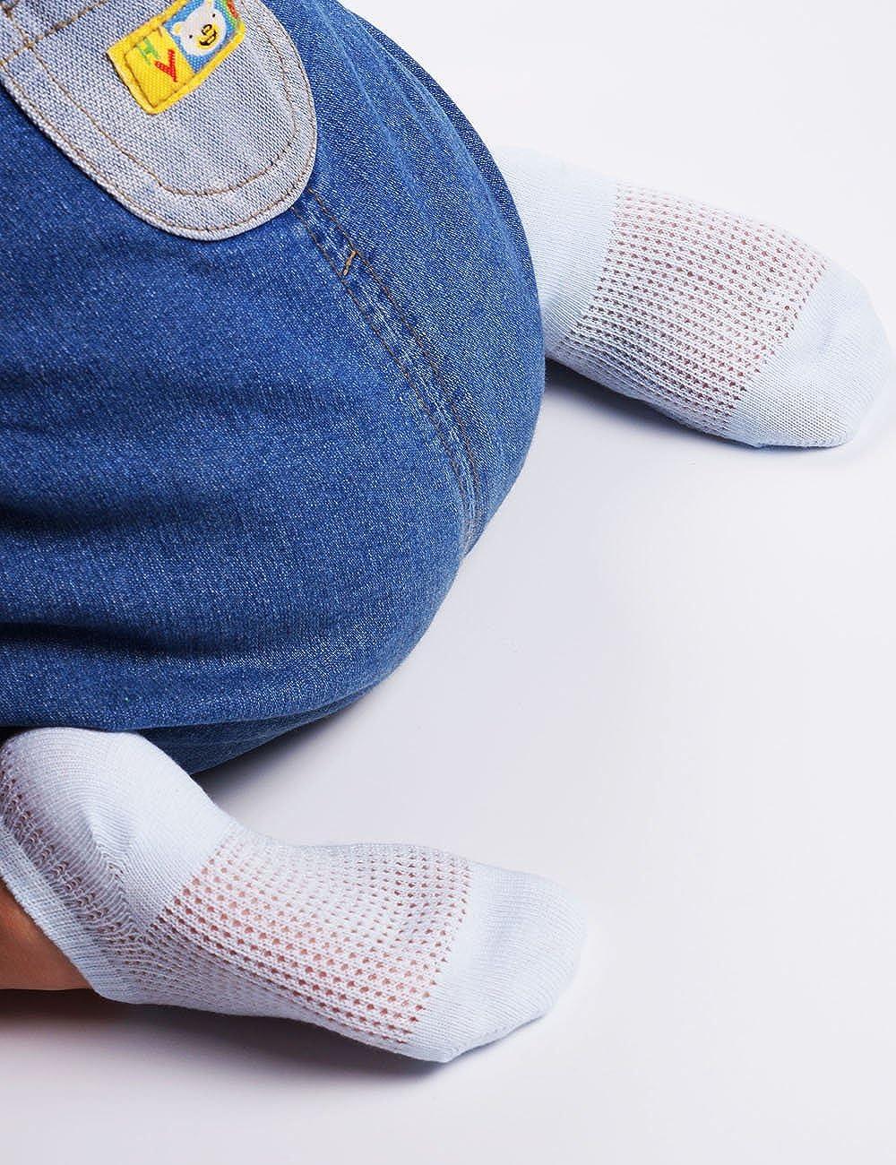 BabaMate 5 Pairs Toddler Little Kid Boys Girls No Show Ankle Socks Soft Cotton Thin Mesh Infant Baby Summer Socks