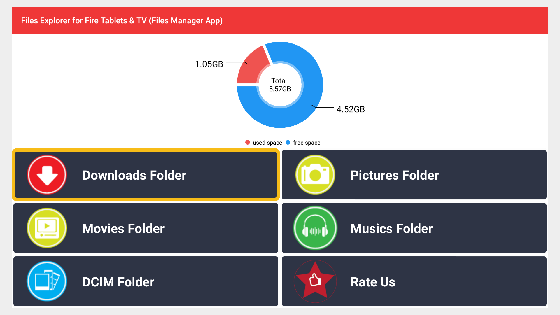 Amazon Com Files Explorer For Fire Tablets Tv Files Manager App Appstore For Android