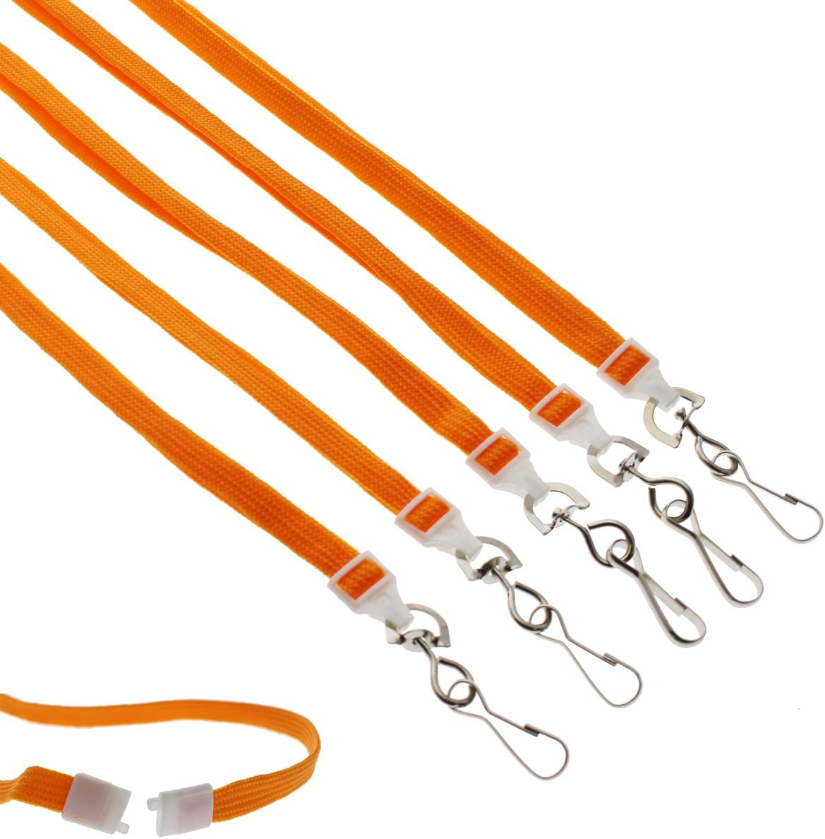 Bulk 25 Lanyards for ID Badges with Safety Breakaway /& Swivel Hook Specialist ID